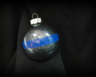 Police Ornament - Law Enforcement Ornament - Thin Blue Line - Police Life - Police Officer Ornament - Police Wife - Thin Blue Line Ornament