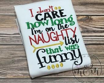 Matching Christmas Shirts | Sibling  Christmas Shirts | Funny Christmas Shirt | Naughty List | Nice List | Santa Shirt | Funny Christmas