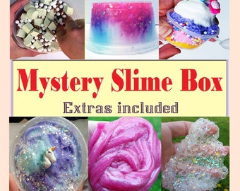 Mystery Slime Box Slime Package with Extras  Surprise Gift Box Birthday Slime Mystery Box  Slime Read Description favor cheap slime No Borax