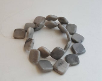 21  Gemstone Beads Gray