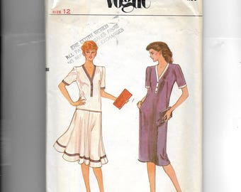 Vogue Misses' Dress or Top and Skirt Pattern 7933