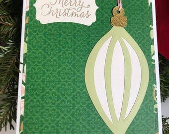 Pair of handmade Christmas ornament cards