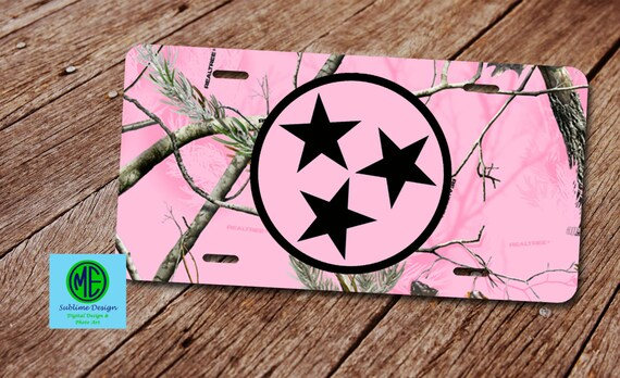 Pink Camo License Plate. License Plate Frame. Camouflage