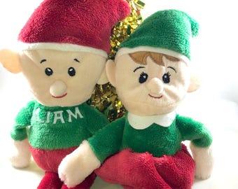 Personalized Plush Elf- Plush Christmas Elf- Personalized Plush Elves- Stocking Stuffer- Christmas Gift- Elf Christmas -Toy Elves- Plush