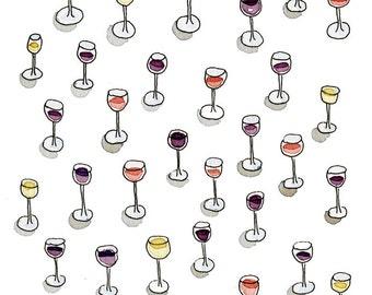 Wine pattern print