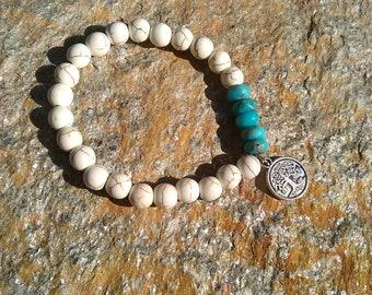 Turquoise Tree of Life bracelet
