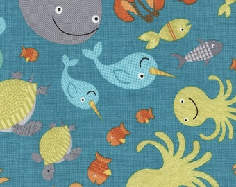 Timeless Treasures - Sea Creature - All over Pattern - Splish Splash