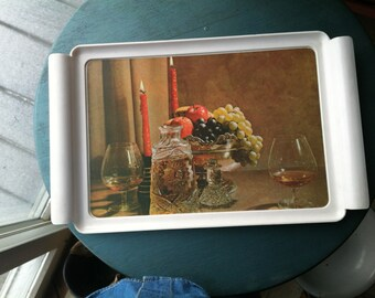 Waverly Serving Tray: Brandy and candles