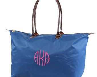 "21"" Nylon Tote Bag Oversize Tote, Monogram Tote , Monogrammed tote, Nylon Bag, Monogrammed Carry on, Overnight Bag"