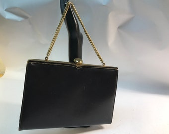 Formal black handbag