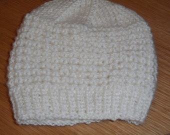 Hand Knitted Baby Hat for 0-3 Months