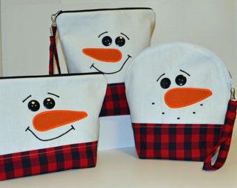 Lumberjack Snowman project bag