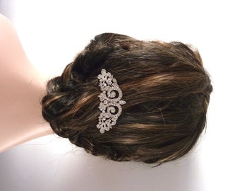 Bridal Hair Comb Silver Plated Pearl Crystal Wedding Hair Accessories Bridal HairJewelry