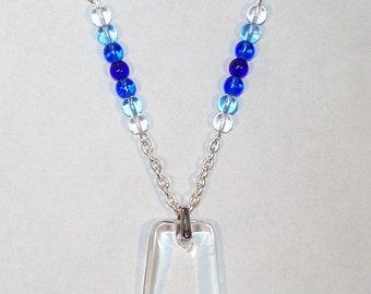 Rock Quartz Trapazoid Necklace