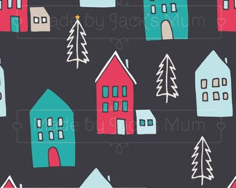 Winter Houses French Terry (280gsm, 94/6 Cotton/Elastane) *UK*