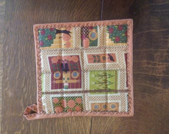 Fall Harvest Quilted Pot Holder