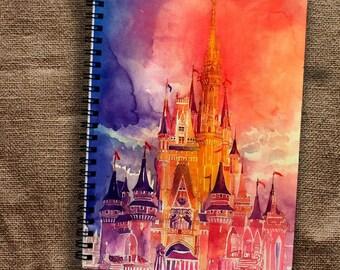 Disney Castle Notebook Disney Notebook Castle Notebook A4 Cartoon Notebook A5 Disney Notepad Spiral Notebook A4 Magic Notebook Fairytale A5