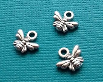 15 Bee Charms Silver - Honey Bee Charm - CS2488