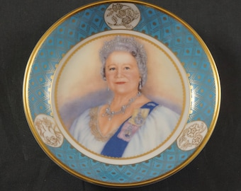 ROYAL WORCESTER Tray to Commemorate the Life of the Queen Elizabeth Queen Mother 1900-2002