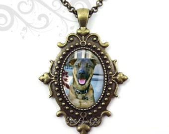 Personalized Pet Memorial Jewelry Wedding Bouquet Photo Charm Loss of Pet Necklace