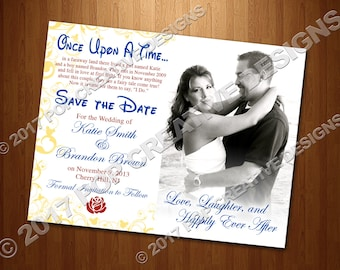 Beauty and the Beast Wedding Save The Date DIY PRINTABLE