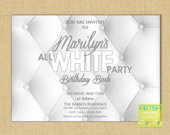All white party Etsy