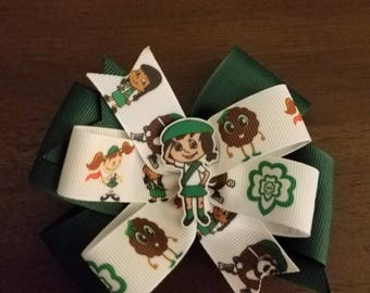 Girl Scout cookie hair bow