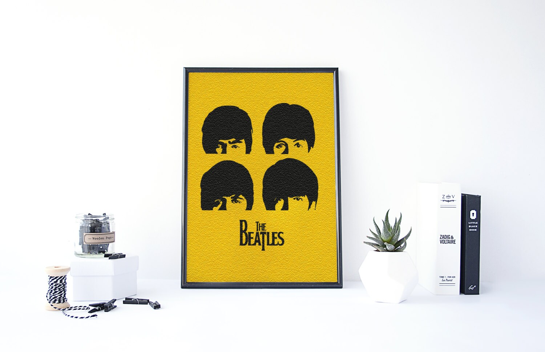 The Beatles Poster The Beatles Wall Art Beatles Art Living