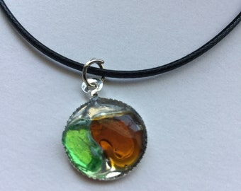 Sea Glass in Resin Necklace