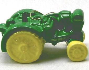 John Deere Tractor Tree Ornament - Vintage Waterloo Tractor - NIB