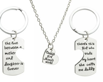 Theres this girl who stole my heart - the love between mother and daughter - daddy's girl mamas world - parents of the bride gift - set