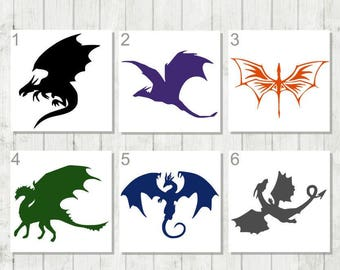 Dragon Decal, Flying Dragon Decal, Vinyl Decal, Laptop Decal