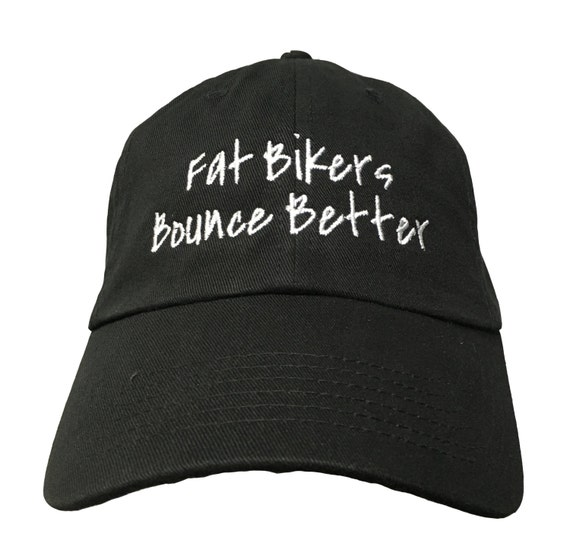 Fat Bikers Bounce Better (Polo Style Ball Black with White Stitching)