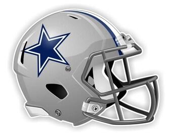 Dallas Cowboys Football Helmet Decal / Sticker Die cut
