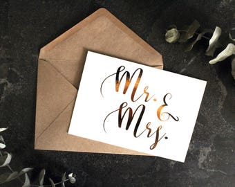 Made to Order Congratulations Newlyweds Card, Hand-Foiled