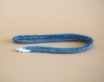 Reclaimed rope shoelaces - Gunmetal - FREE SHIPPING
