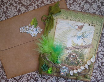 Adore Card, Dictionary Definition, Natural Elements, Bird and Terrarium Card