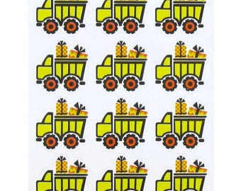 """1"""" Construction Party Dump Truck Envelope Sticker Seals Favors Gift Bag Stickers Thank You Party Favors Craft Scrapbooking Planner"""