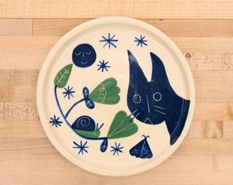 Tofu the cat plate