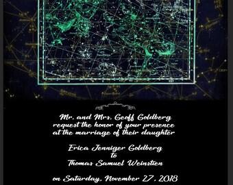 Constellation Wedding Invitation Template- CUSTOMIZABLE