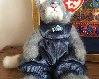 Whiskers TY Beanie Baby New With Tags PRISTINE Condition 1993