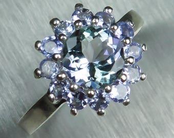1.15ct Natural purple blue Tanzanite sterling 925 Silver 9ct 14k 18k 22k white yellow rose Gold, Platinum, Palladium ring all sizes