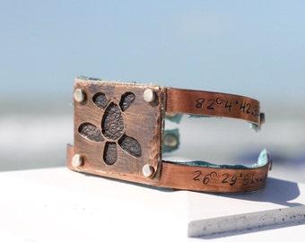 Copper Bracelet for Her -  Gift for Her - Beach Jewelry for Wedding -  Personalized Beach Jewelry - Destination Beach Wedding Jewelry