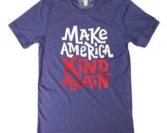 Make America Kind Again Men's Triblend Crew