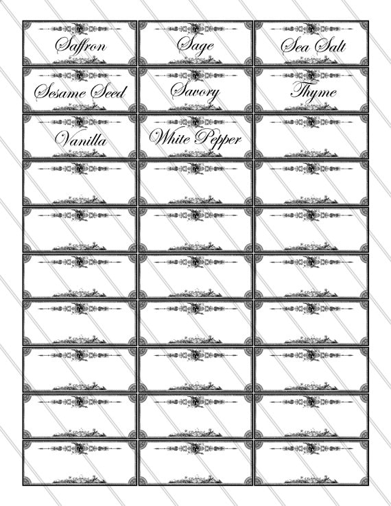 spice label template funf pandroid co