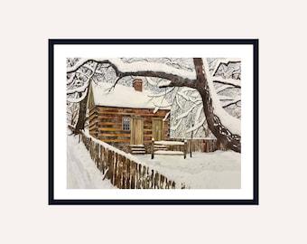 Cabin Fever Print || Watercolor Print