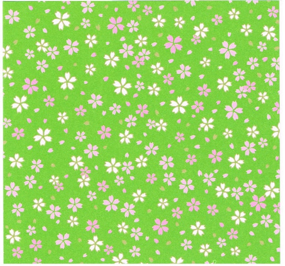 Cherry Blossom Print Japanese Origami Paper Sheets For DIY