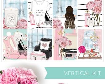 Moments In Paris | VERTICAL KIT | Weekly Kit | Erin Condren | Planner Stickers