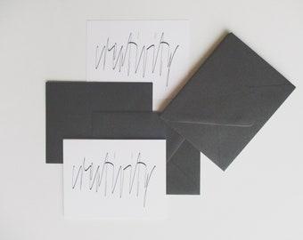 "5.5"" x 4"" Luxe Card Set   ""CREATIVITY""   Flat   Blank Back"