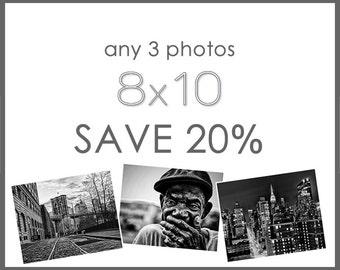 Save 20% - Any Three 8x10 Prints